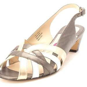 Ros Hommerson Womens pam Leather Open Toe Casual